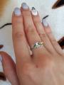 Серебряное кольцо с цветными фианитами