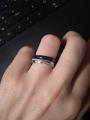 Серебряное, керамическое кольцо