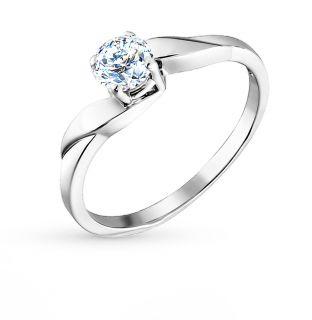 Серебряное кольцо с фианитами SOKOLOV 94010011: белое серебро 925 пробы, фианит — купить в интернет-магазине SUNLIGHT, фото, артикул 42391