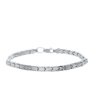 Серебряный браслет ЭСТЕТ 01Б750003: белое серебро 925 пробы — купить в интернет-магазине SUNLIGHT, фото, артикул 124163