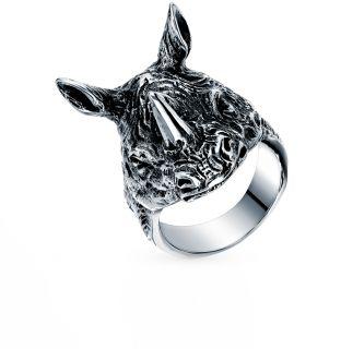 Стальное кольцо: белая сталь — купить в интернет-магазине SUNLIGHT, фото, артикул 99688