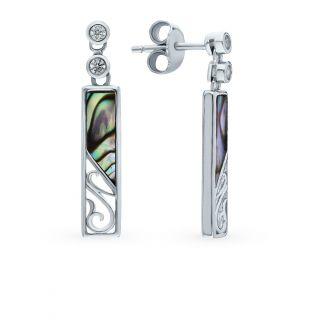 Серебряные серьги с фианитами: белое серебро 925 пробы, фианит — купить в интернет-магазине SUNLIGHT, фото, артикул 122143