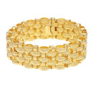 Серебряный браслет PRESTIGE: жёлтое серебро 925 пробы — купить в интернет-магазине SUNLIGHT, фото, артикул 92604