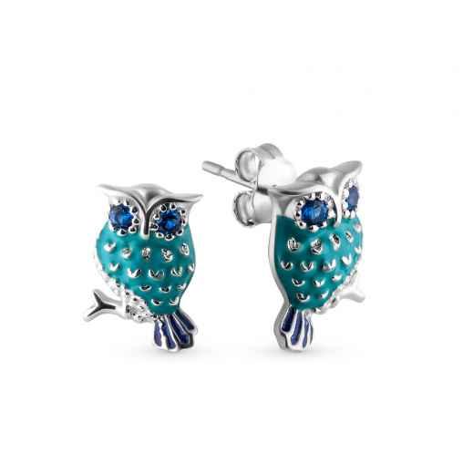 Cерьги совы — купить недорого в интернет-магазине SUNLIGHT в Москве,  выбрать сережки в виде совы в каталоге с фото и ценами 749504c9b93