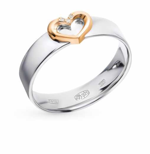 Серебряные кольца с бриллиантами — купить недорого в интернет-магазине  SUNLIGHT в Москве, выбрать кольцо из серебра с бриллиантами в каталоге с  фото и ... fa5de0046a7