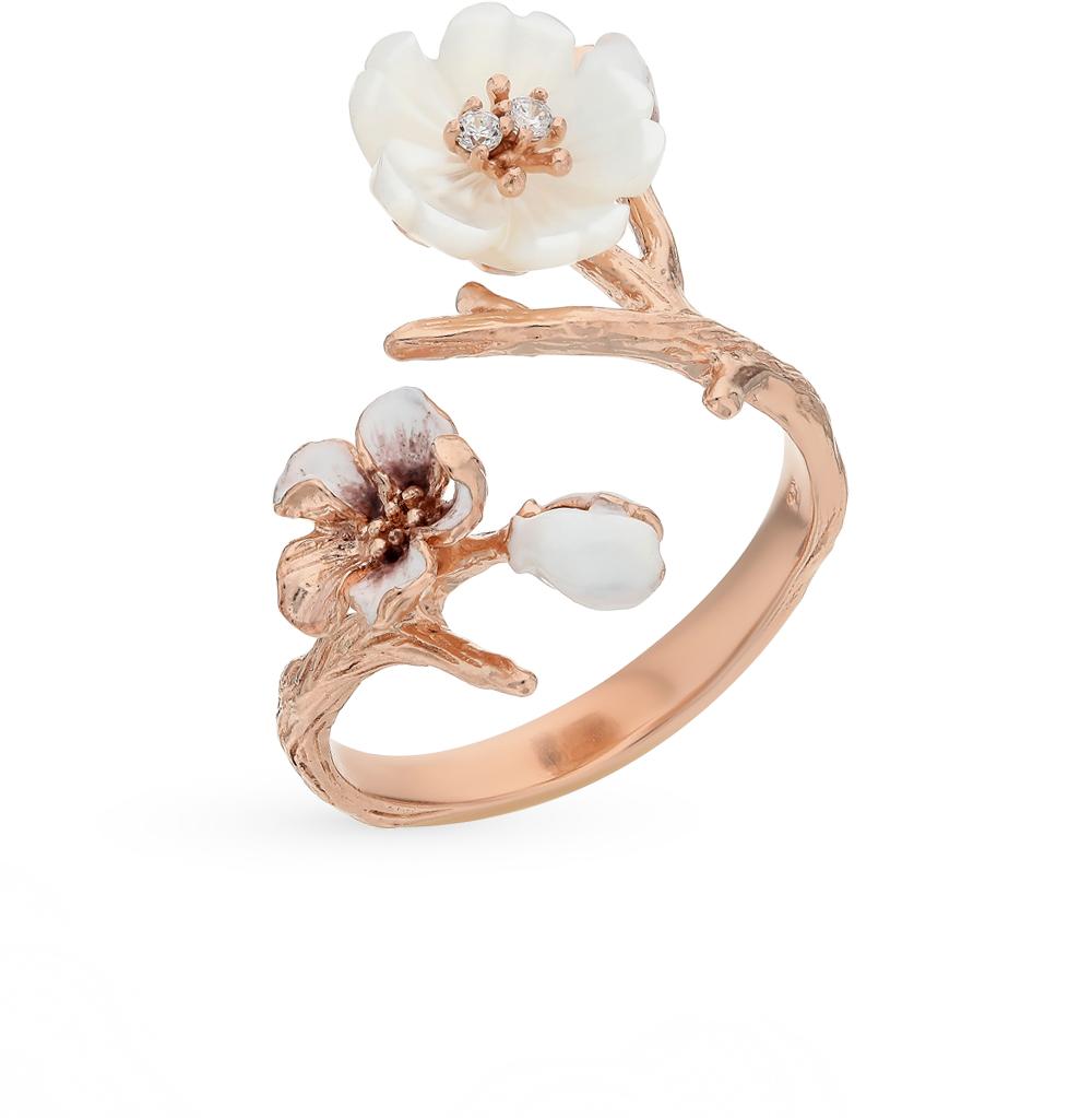 Фото «Серебряное кольцо с перламутром и эмалью»