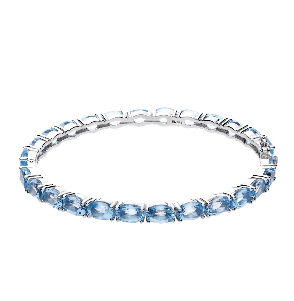 серебряный браслет с топазами