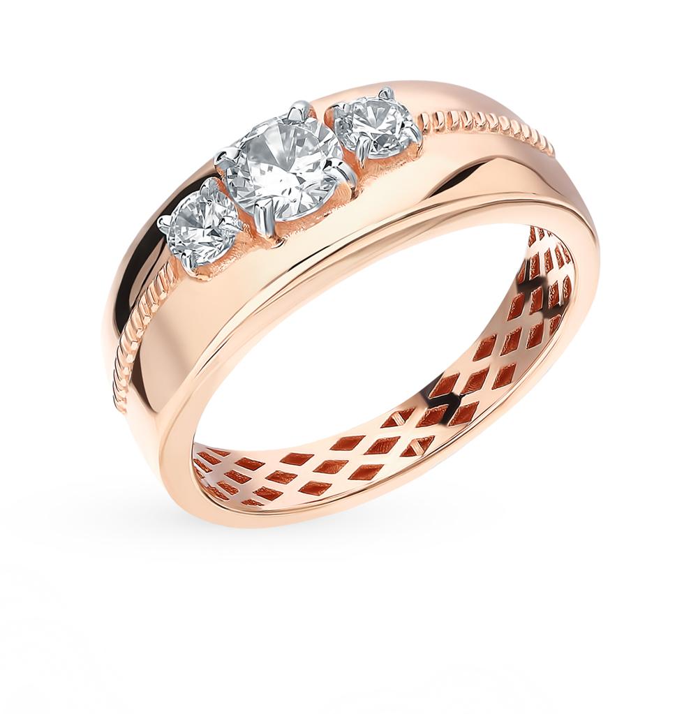 Фото «Золотое кольцо с фианитами SOKOLOV 018262*»