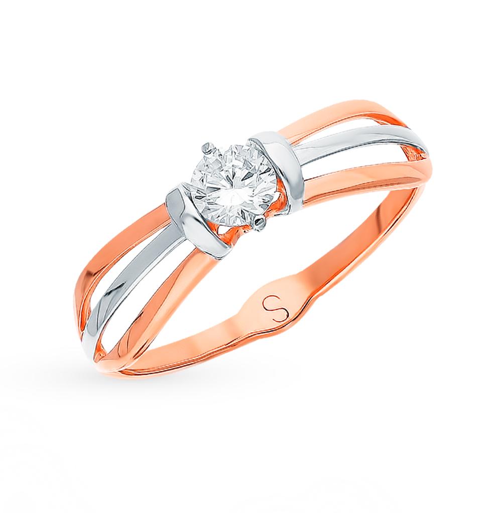 золотое кольцо с фианитами SOKOLOV 017828*