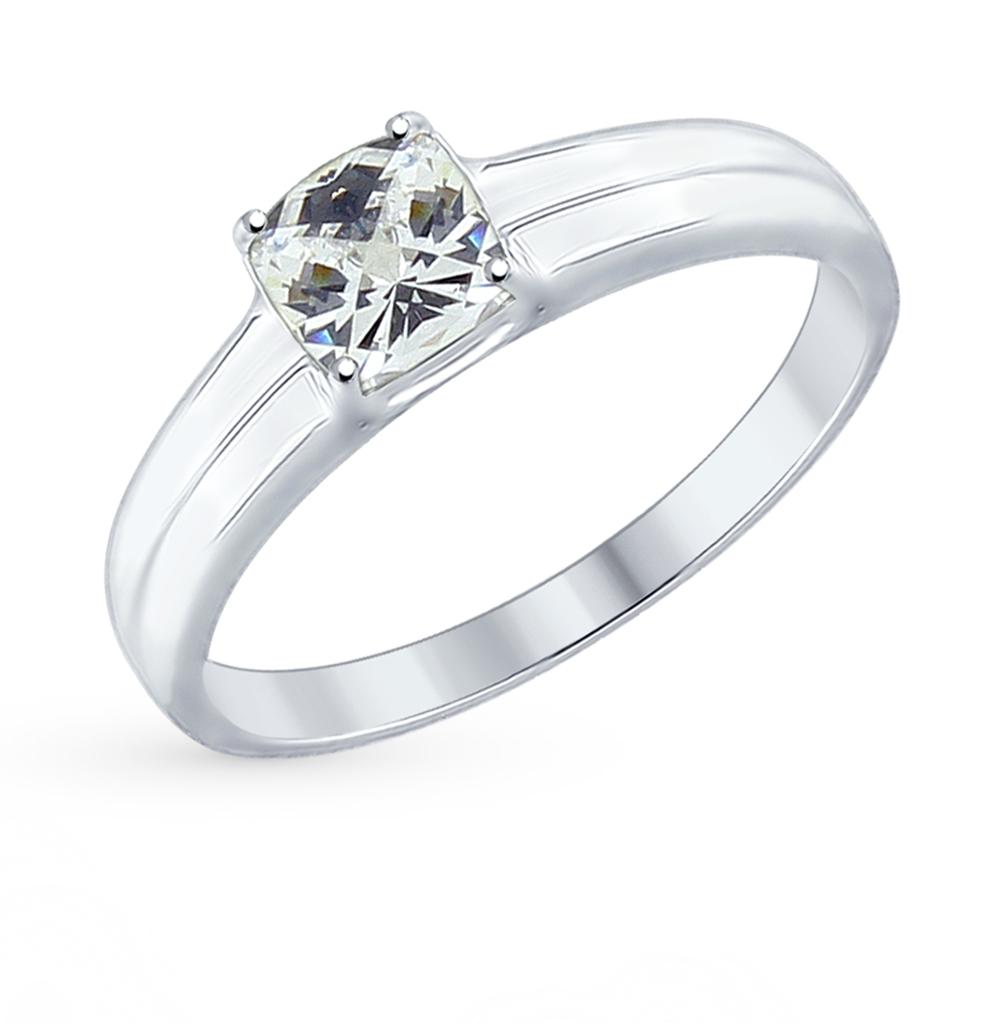 серебряное кольцо с фианитами SOKOLOV 89010067