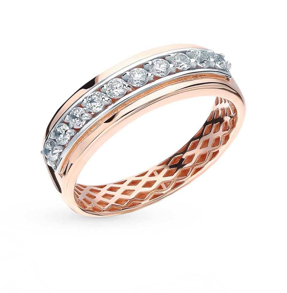 Фото «Золотое кольцо с фианитами SOKOLOV 018260*»