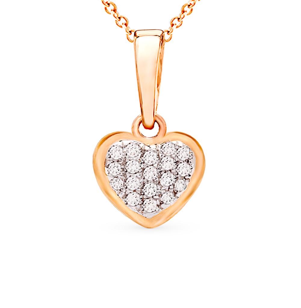Золотая подвеска с бриллиантами в Екатеринбурге