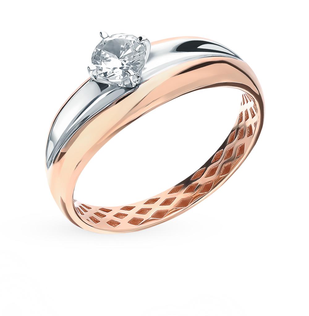 Золотое кольцо с фианитом SOKOLOV 018264*