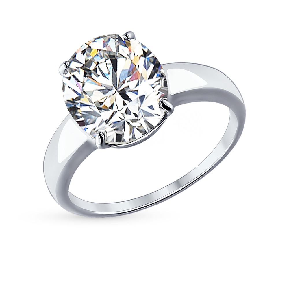 серебряное кольцо с фианитами SOKOLOV 94012074