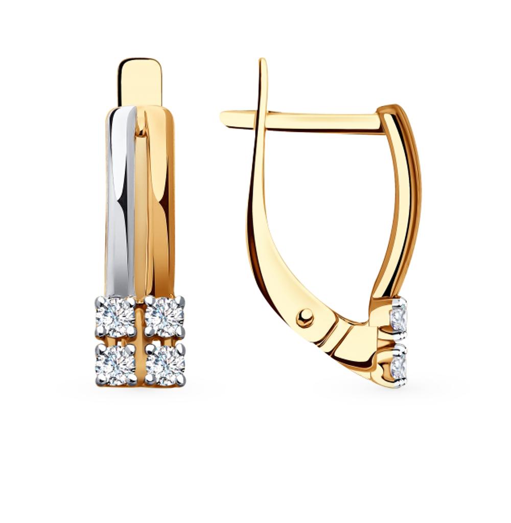 Фото «Золотые серьги с фианитами SOKOLOV 81020415»
