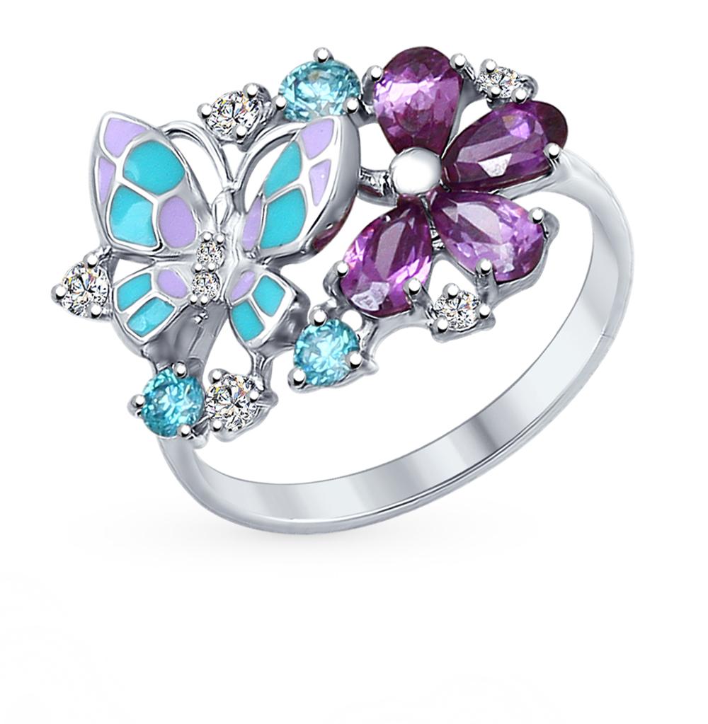 серебряное кольцо с фианитами SOKOLOV 94012320
