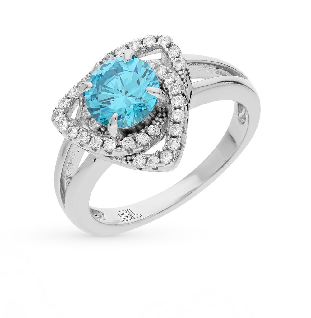 Фото «серебряное кольцо с со шпинелью и фианитами»
