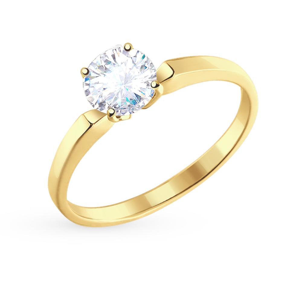золотое кольцо с фианитами SOKOLOV 010184-2*