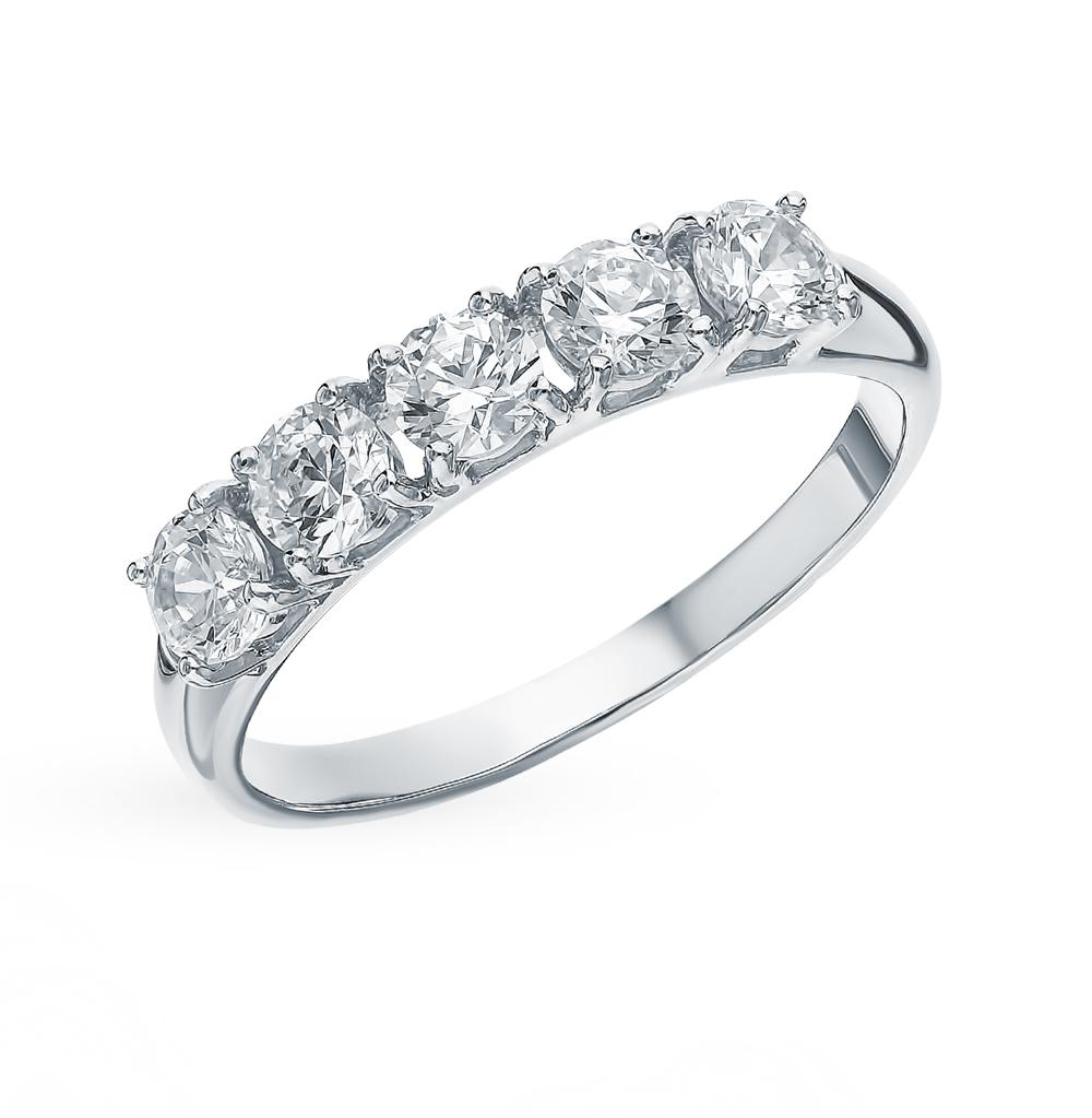 Фото «Золотое кольцо с фианитами SOKOLOV 81010444-3*»