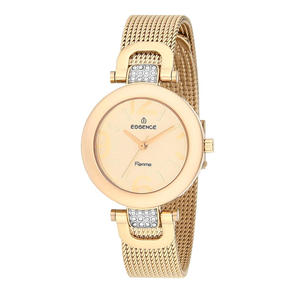Женские часы D847.110 на стальном браслете с PVD покрытием с минеральным стеклом