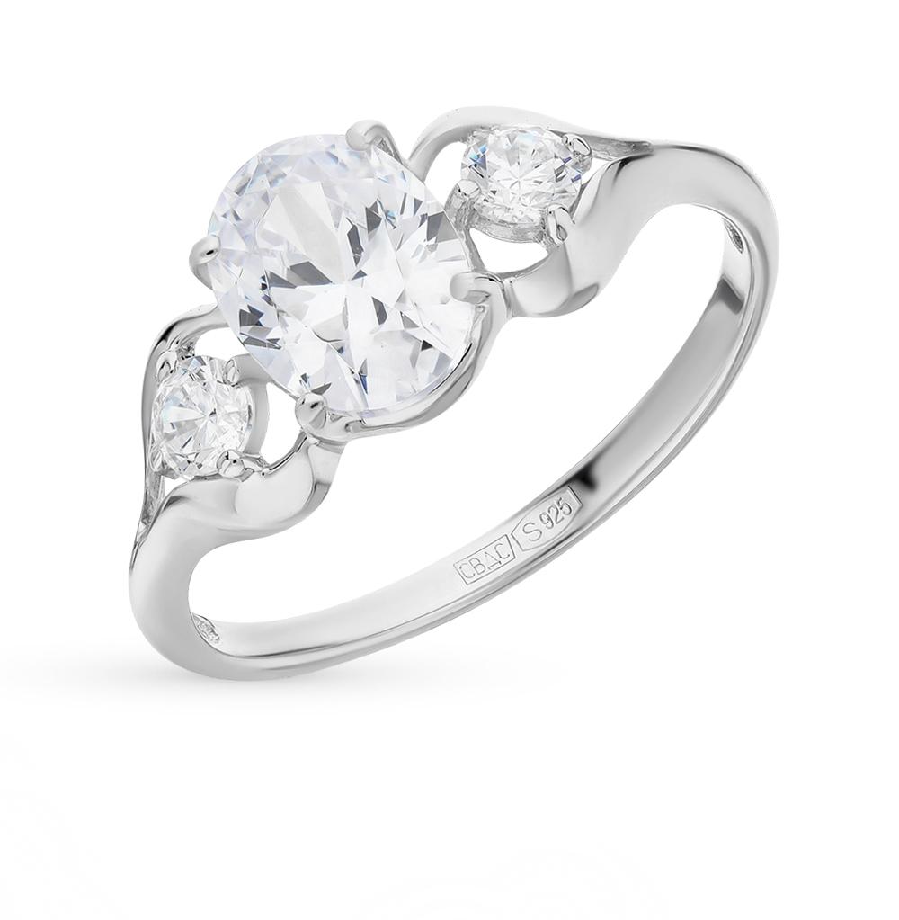 серебряное кольцо с фианитами SOKOLOV 94012228