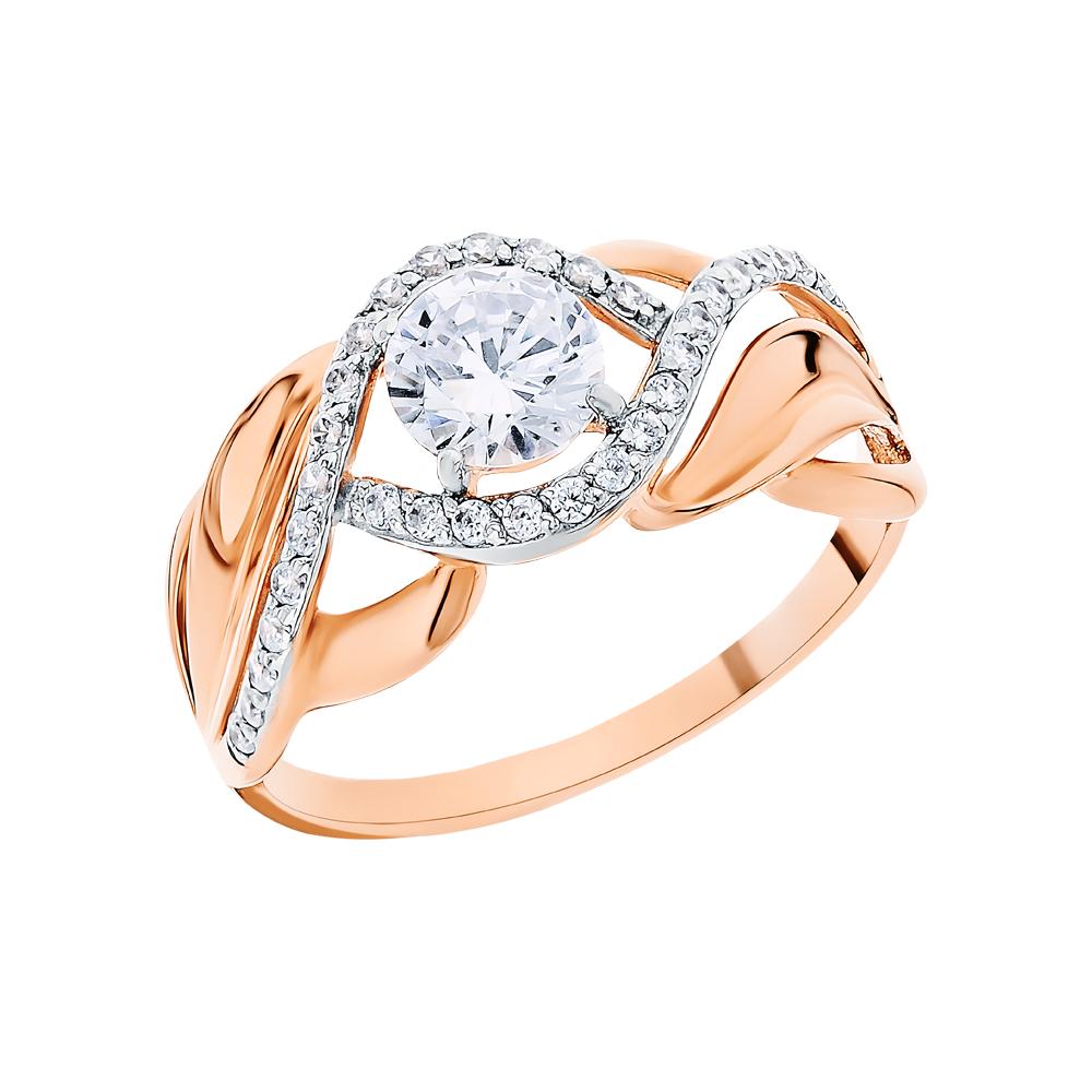 Золотое кольцо с фианитами SOKOLOV 017424* в Санкт-Петербурге
