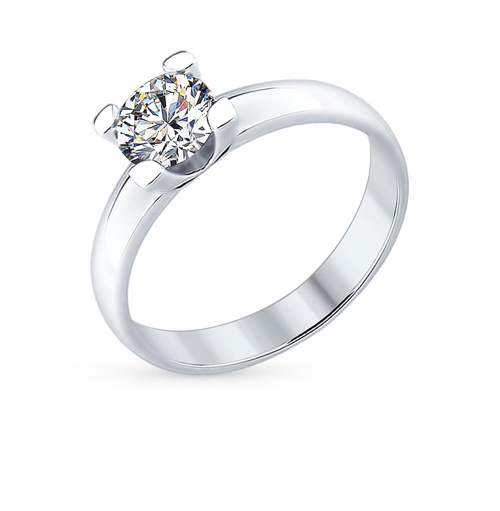 серебряное кольцо с фианитами SOKOLOV 89010058
