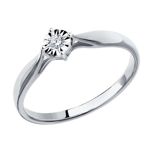 Фото «Золотое кольцо с бриллиантами SOKOLOV 1011493»