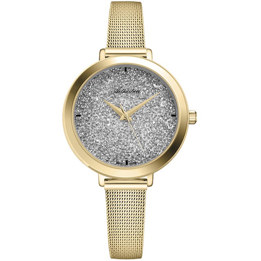 Фото «Женские часы A3787.1113Q на стальном браслете с PVD покрытием с минеральным стеклом»