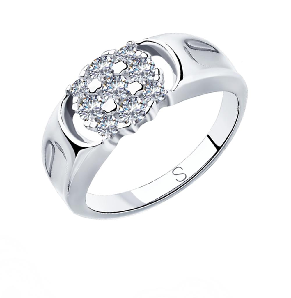 Серебряное кольцо с фианитами SOKOLOV 94012960 в Санкт-Петербурге