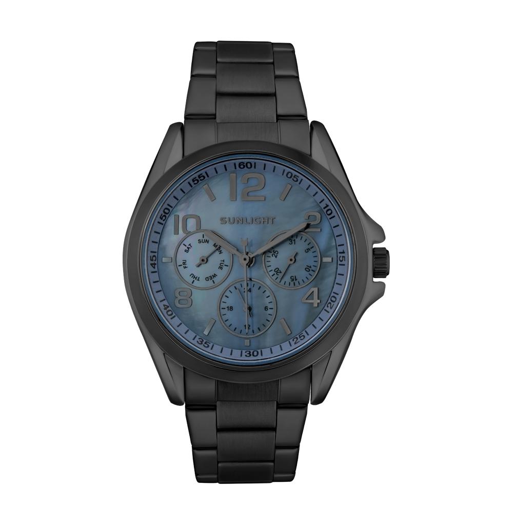 Фото «Женские часы с перламутром и календарем на металлическом браслете»