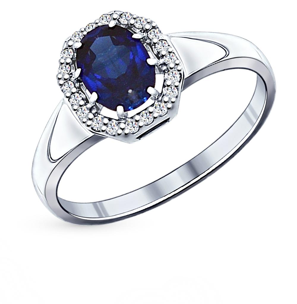 серебряное кольцо с фианитами SOKOLOV 88010015