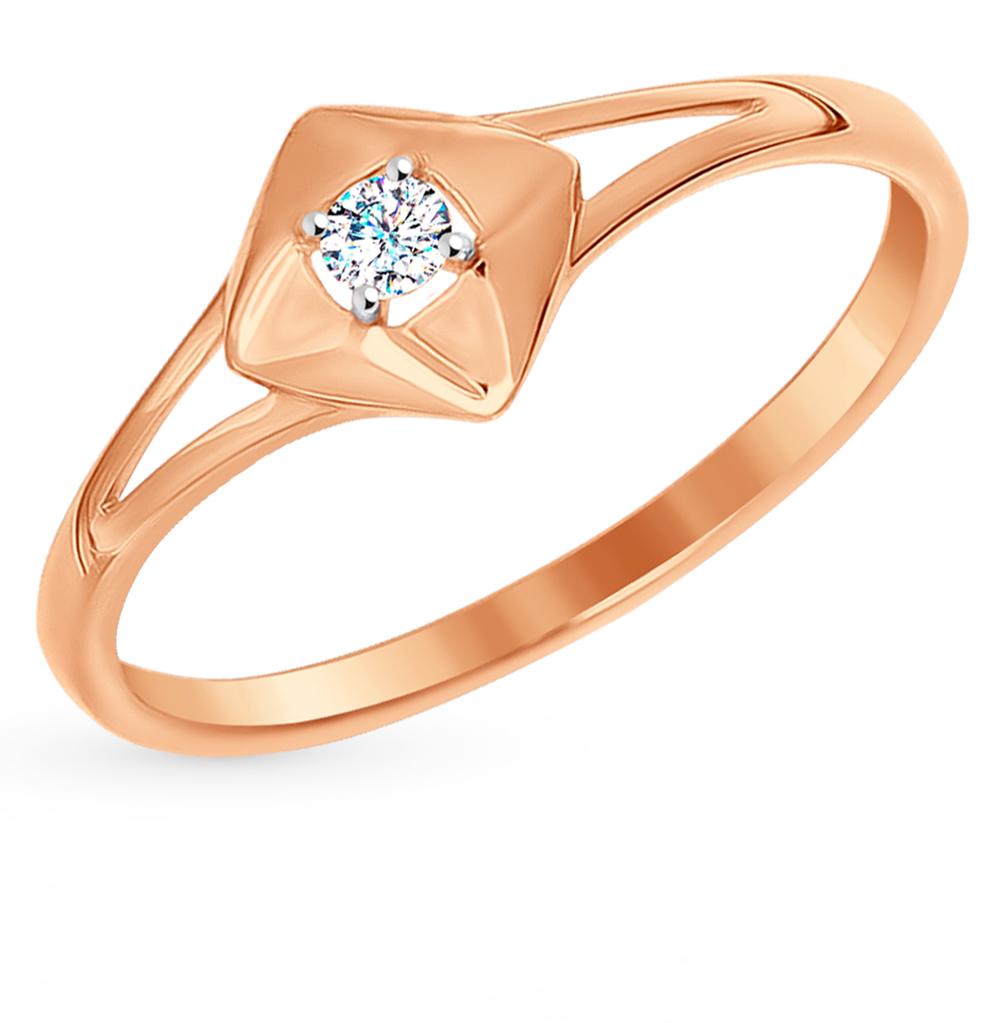 Фото «Золотое кольцо с фианитами SOKOLOV 016994*»