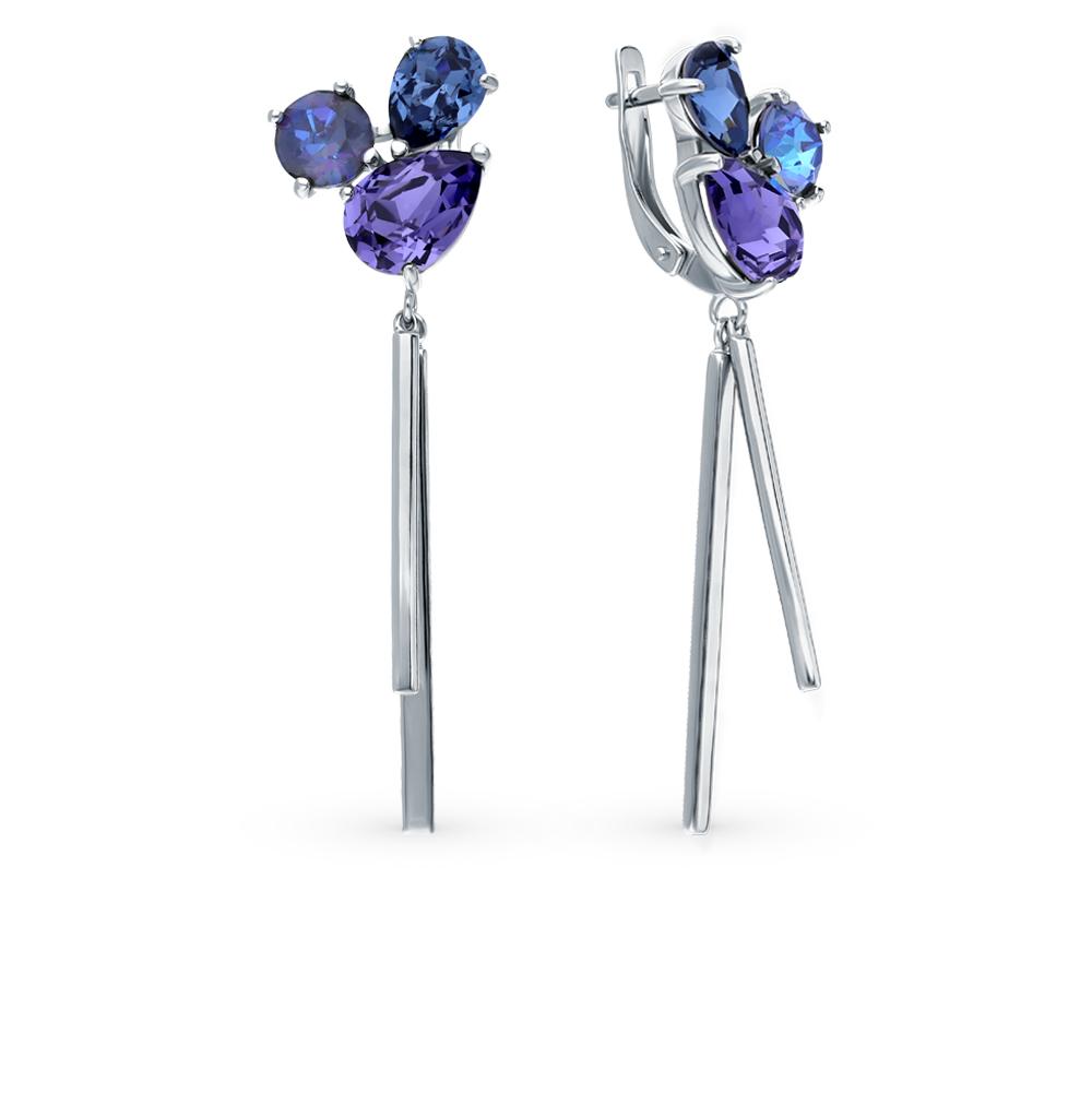 Фото «Серебряные серьги с кристаллами SOKOLOV 94023708»
