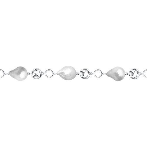 Фото «Серебряный браслет с жемчугом SOKOLOV 92050117»