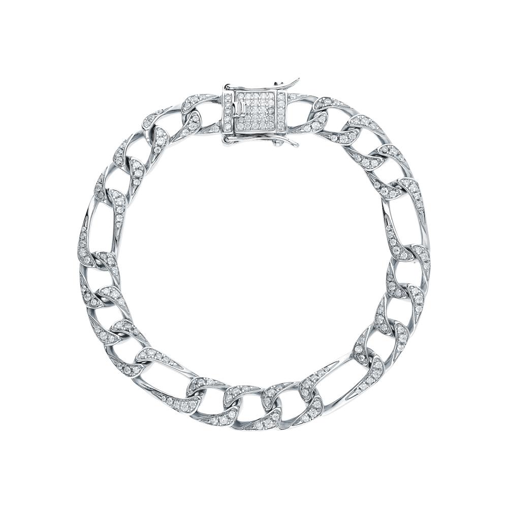 Фото «Серебряный браслет с кубическим цирконием»