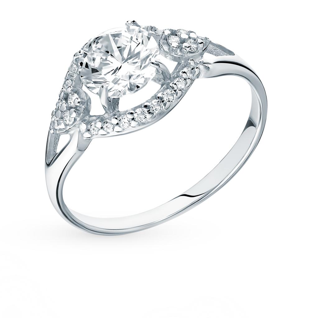 Фото «Серебряное кольцо с фианитами SOKOLOV 94012747»
