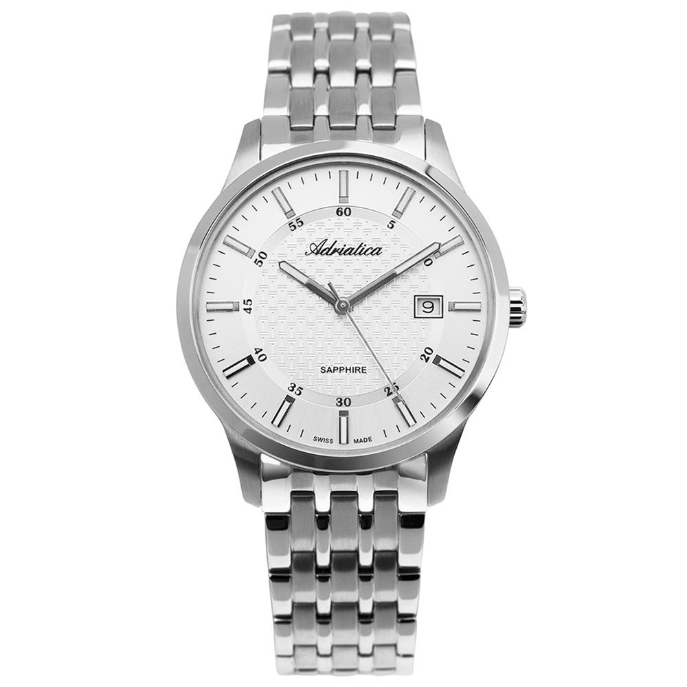 Мужские часы A1256.5113Q на стальном браслете с сапфировым стеклом