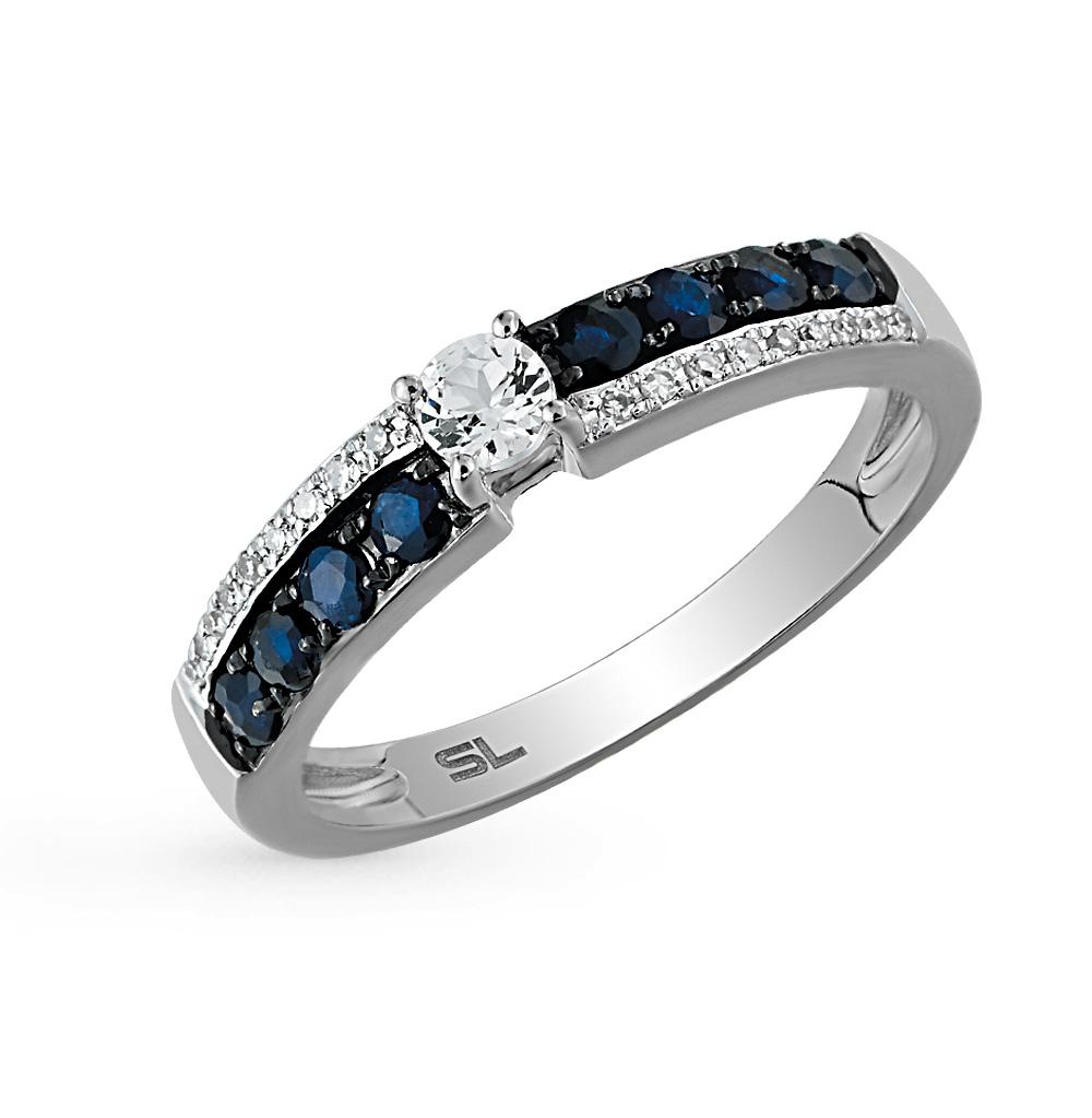 Фото «кольцо с топазами, сапфирами и бриллиантами»