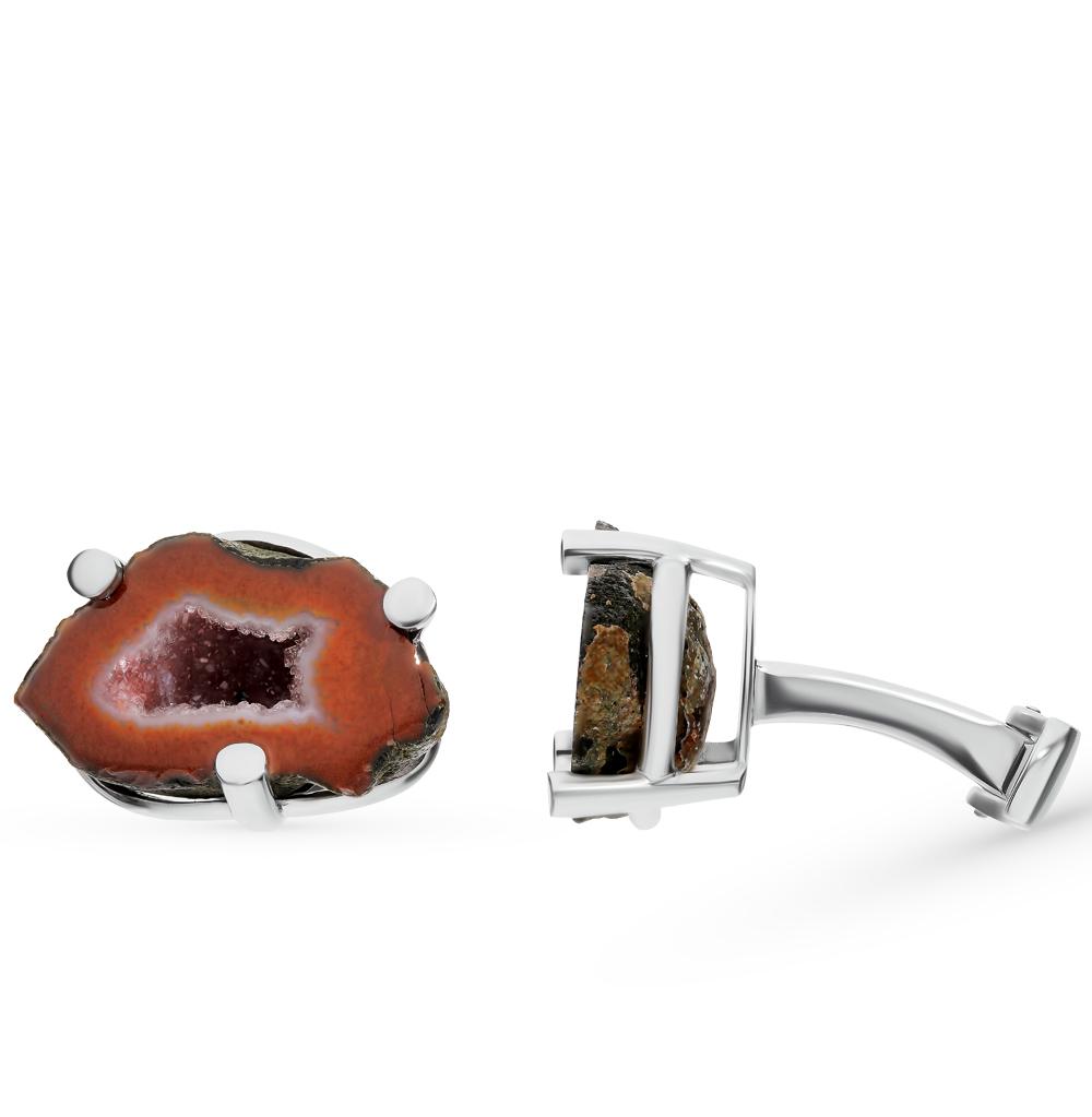 Фото «Серебряные запонки с кварцем»