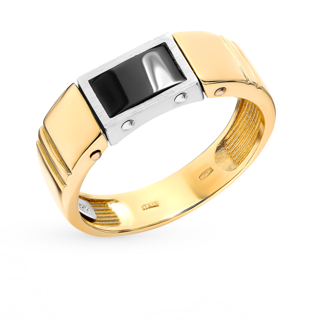 Золотое кольцо с керамикой в Санкт-Петербурге