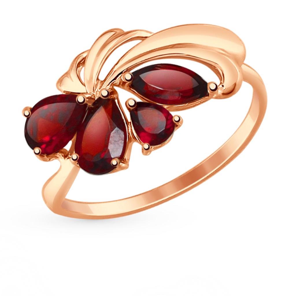 золотое кольцо с гранатом SOKOLOV 714631*