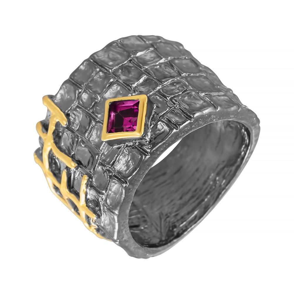 Фото «Серебряное кольцо с родолитами»