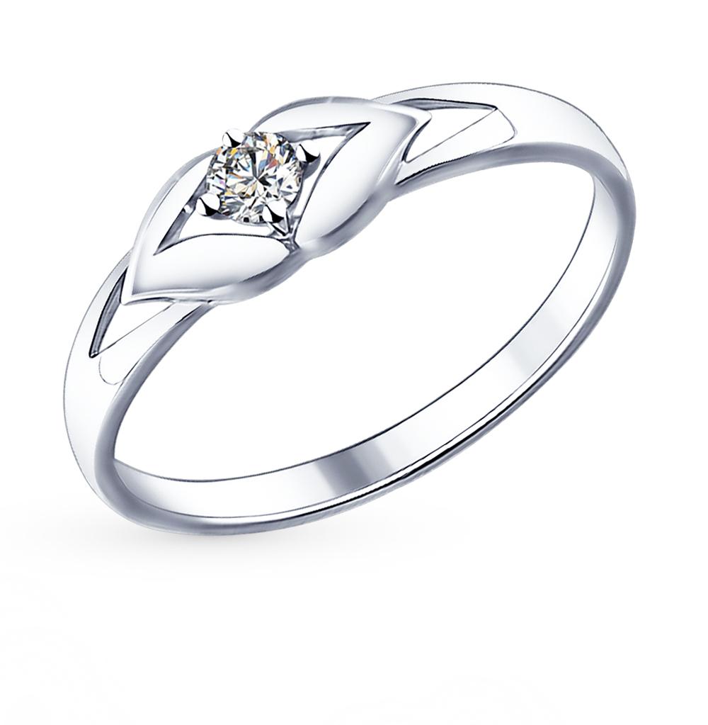 серебряное кольцо с фианитами SOKOLOV 94011585