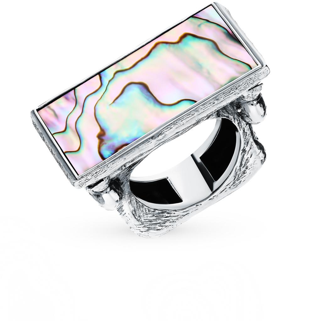 Серебряное кольцо с бирюзой и перламутром в Екатеринбурге