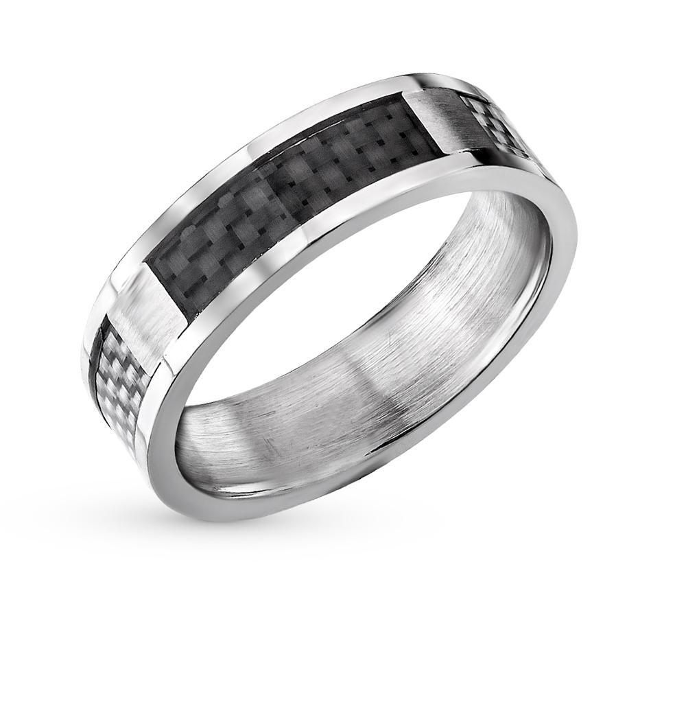 стальное кольцо с карбоном