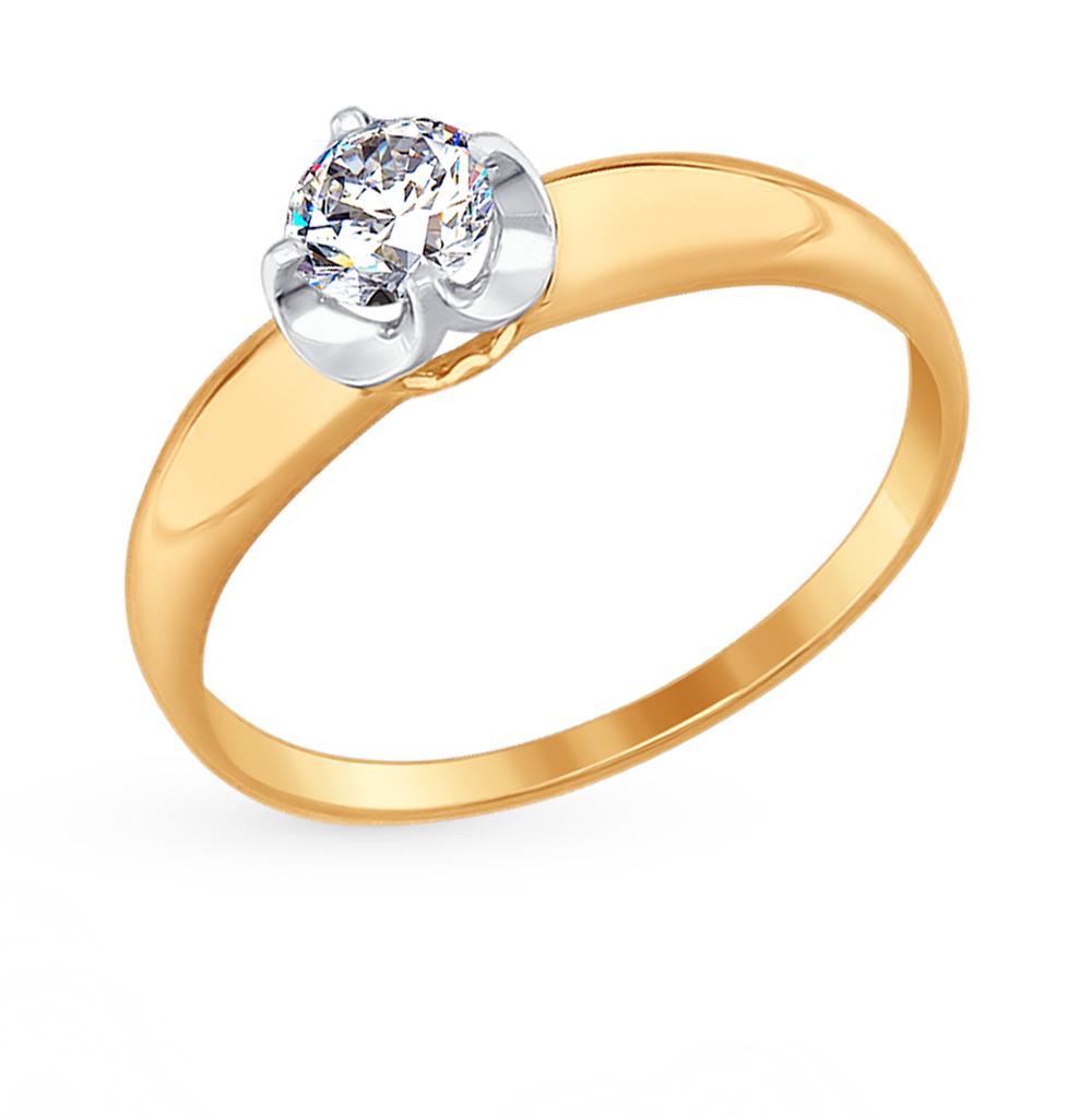 Золотое кольцо с фианитами SOKOLOV 017389* в Екатеринбурге