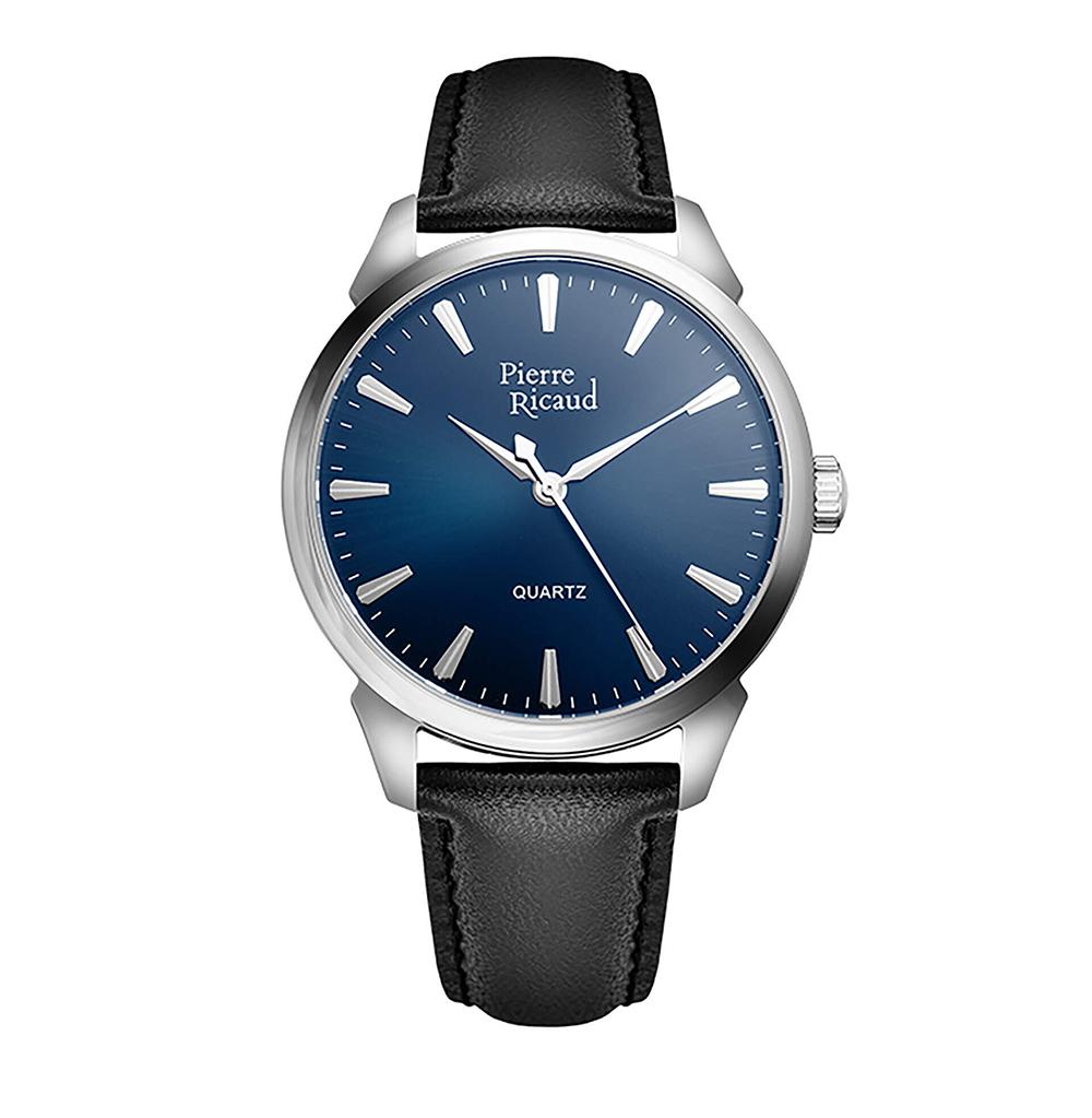 Фото «Мужские кварцевые часы P97228.5215Q на кожаном ремешке с минеральным стеклом»