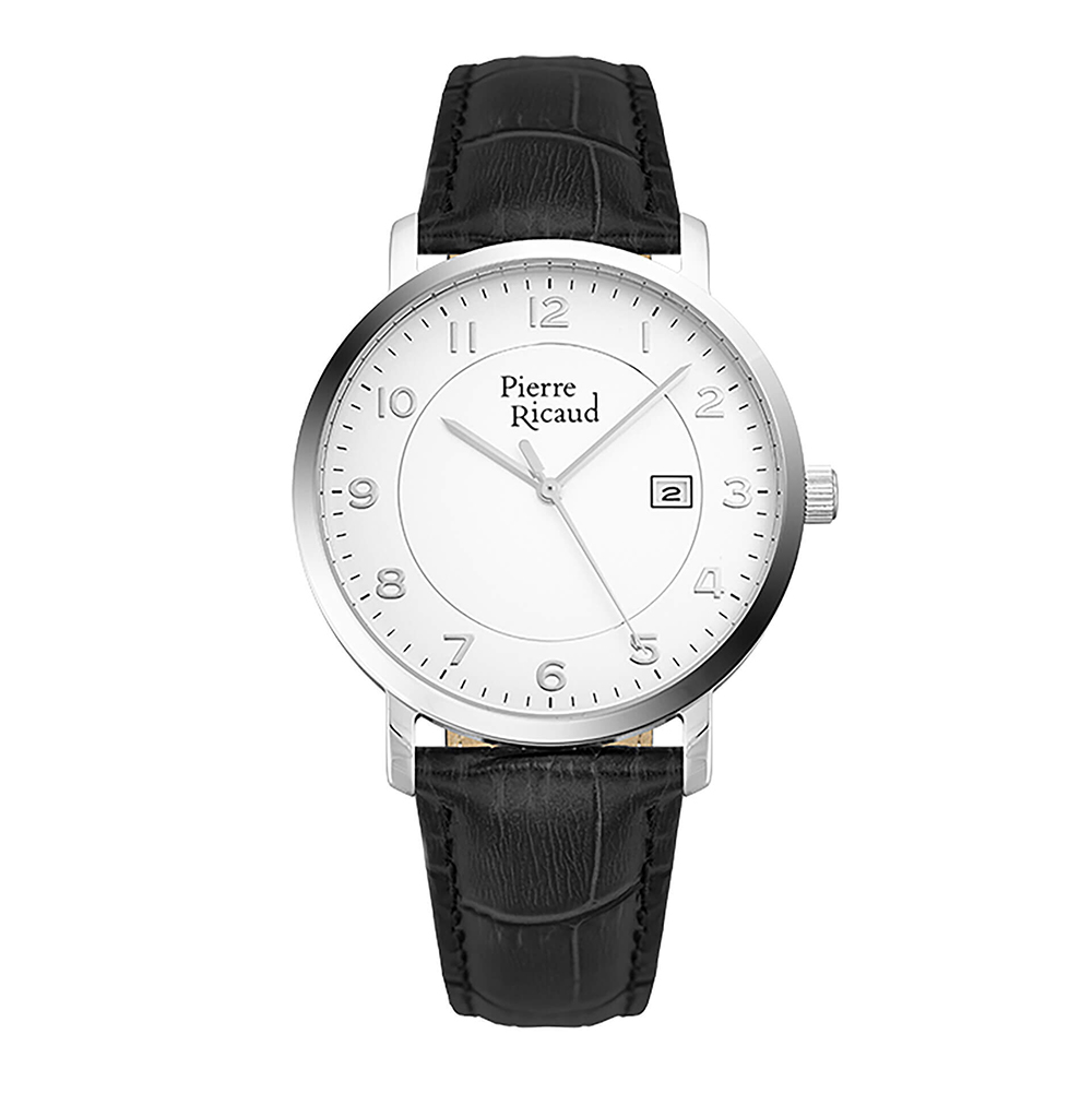 Мужские кварцевые часы P97229.5223Q на кожаном ремешке с минеральным стеклом в Екатеринбурге