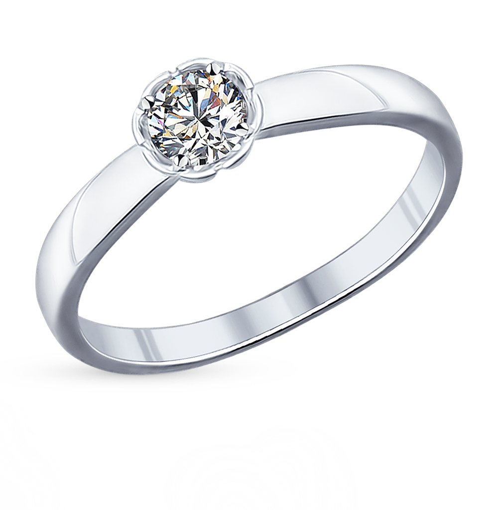 серебряное кольцо с фианитами SOKOLOV 94011749